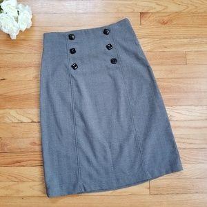 Grace Career Herringbone Pencil Skirt Black Size 4